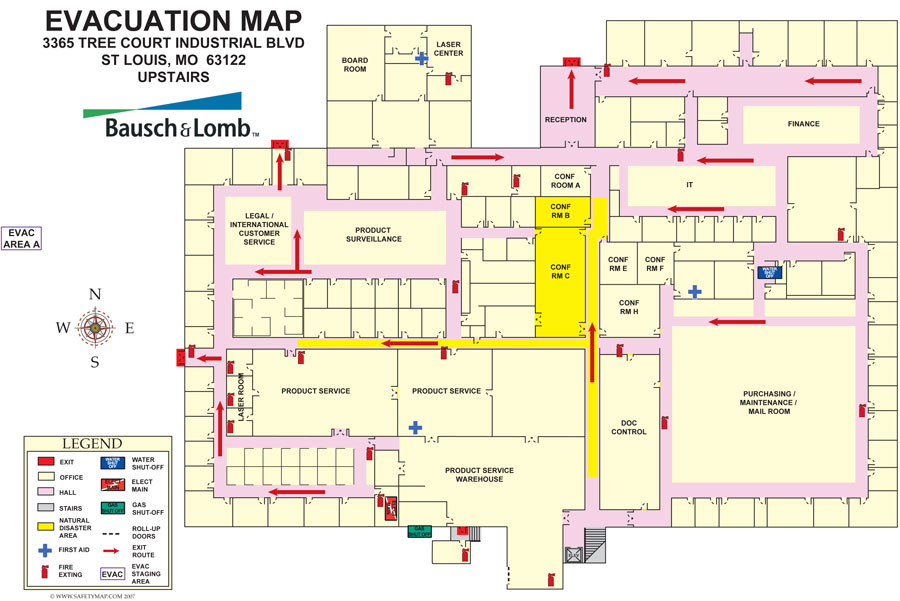 Welcome To SafetymapCom  Building Evacuation Maps Evacuation